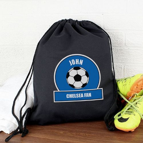 Personalised Dark Blue Football Fan Kit Bag